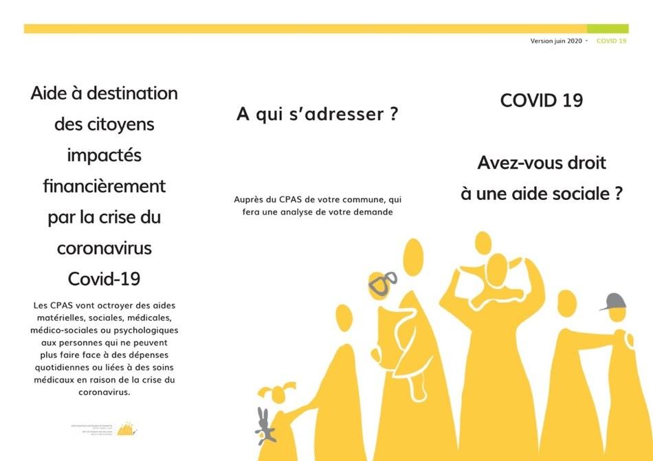 Aides CPAS Covid 1