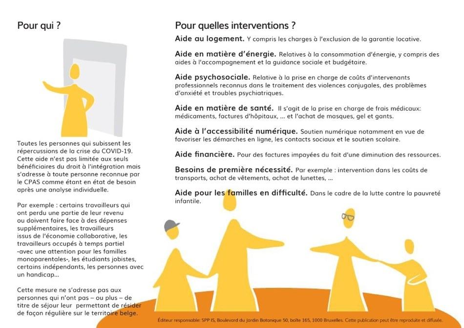 Aides CPAS Covid 2